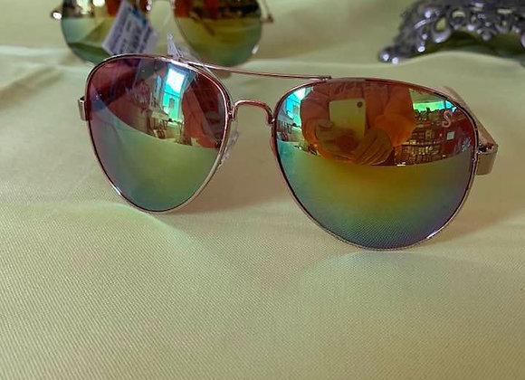Aviator Mirrored Sunglasses