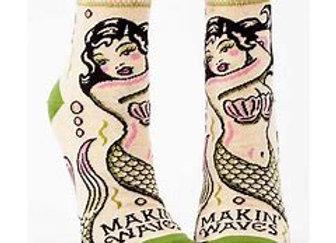 Womens Makin' Waves W-Ankle Socks