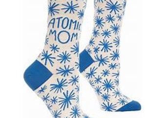 Womens Atomic Mom W-Crew Socks