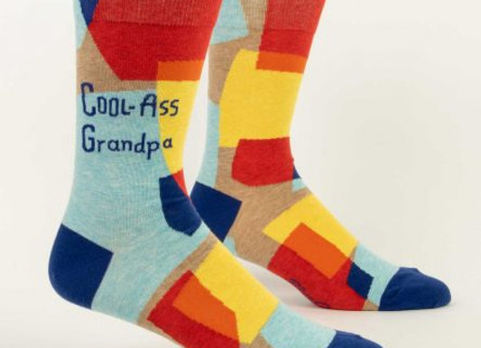Mens Cool-Ass Grandpa Crew Socks