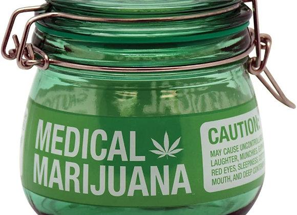 Stash Jar (1) ~Medical Marijuana ~ Mason Jar