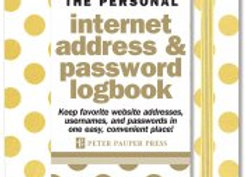 Gold Dots Internet Address & Password Logbook