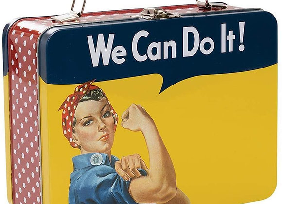 Rosie The Riveter - We Can Do It! - Large Tin Tote Lunch Box