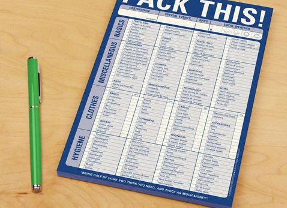Pack this Note Pad
