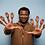 Thumbnail: Set of 10 Dark Skin Finger Hands