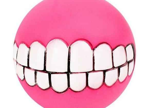 Dog Smile Squeak Toy Pink