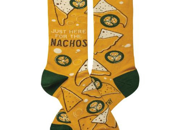 Womens Just Here For The Nachos Crew Socks