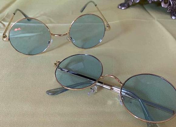 Silver Rimmed Lg Round Sunglasses