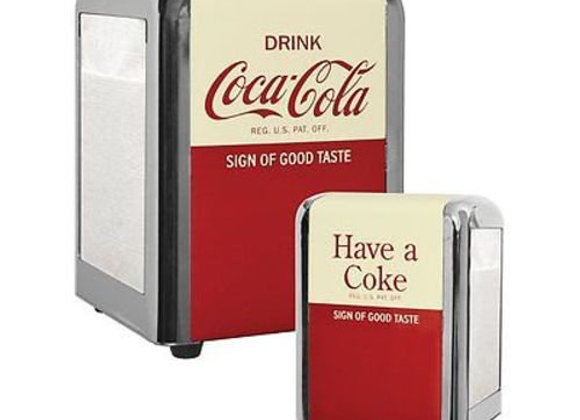 "Coca-Cola ""Have a Coke"" 1/2 Size Napkin Dispenser / Holder"