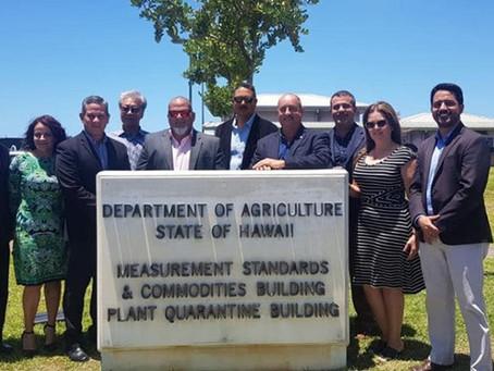 Visita a las instalaciones del Departamento de Agricultura en el estado de Hawaii