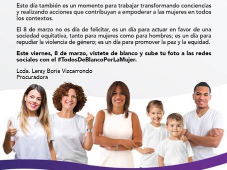 Viste de Blanco: Dia Internacional De La Mujer
