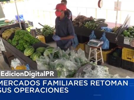 Agricultura confirma reapertura de mercados familiares