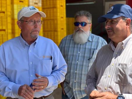 Visita del Comisionado de Agricultura del estado de New York