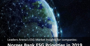 Norges Bank ESG Priorities in 2019