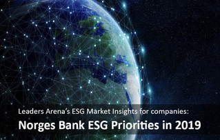 Norges Bank ESG Priorities in 2019