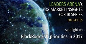 BlackRock ESG priorities in 2017