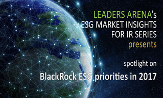 BlackRock ESG priorities in 2017