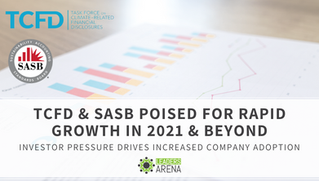 TCFD & SASB poised for rapid growth in 2021 & beyond