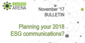 Planning your ESG investor communication for 2018?