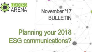 Planning your ESG investor communication for 2018?