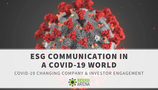 ESG Communication in a COVID-19 World