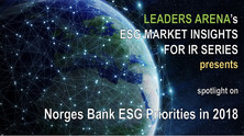 Norges Bank ESG priorities in 2018