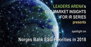 Norges Bank ESG priorities in 2018