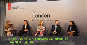 RI Europe 2019 - 4 ESG investor themes companies cannot ignore