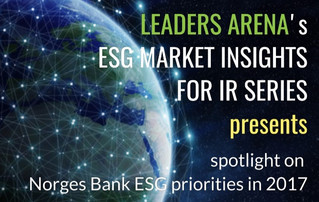 Norges Bank ESG priorities in 2017