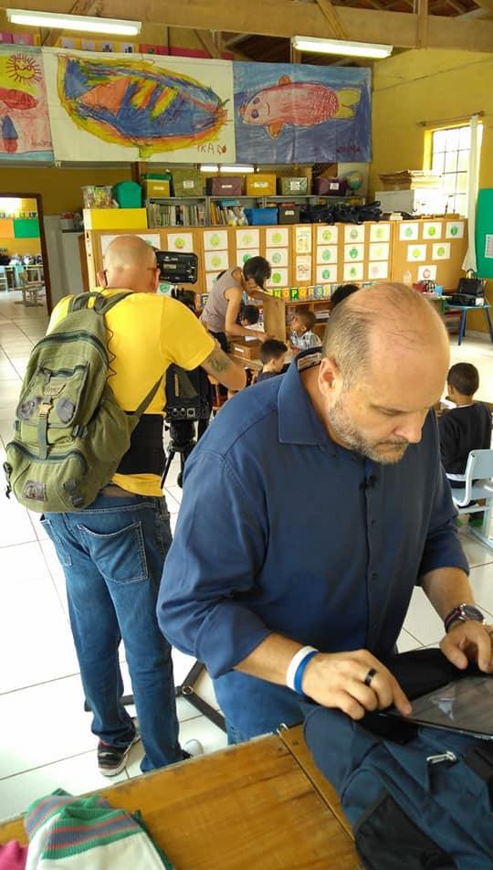 Dia de gravações na APECATU