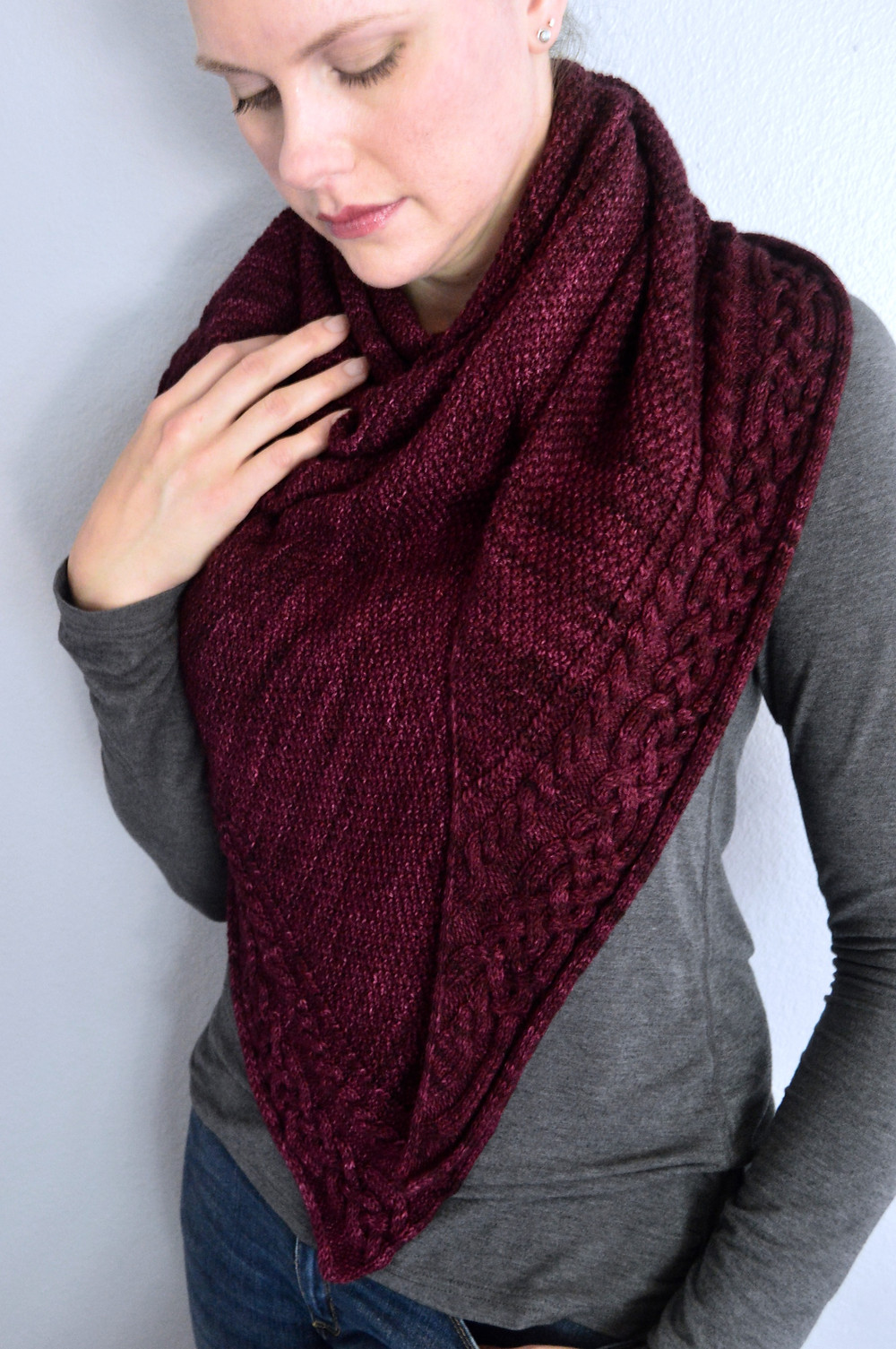 Shawl pattern available on Ravelry & Love Crafts