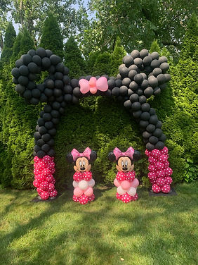 Minnie Mouse Arch With Columns
