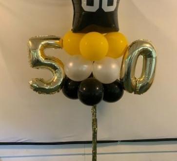 50th Birthday Steelers Yard Pole