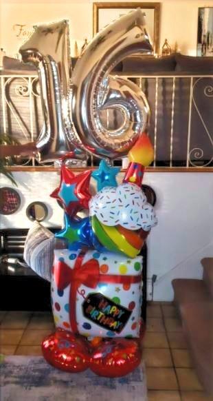16th Birthday Airloonz Bouquet