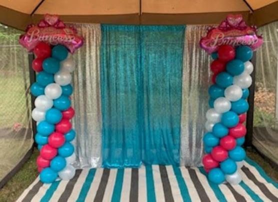 Classic Balloon Columns for a Princess