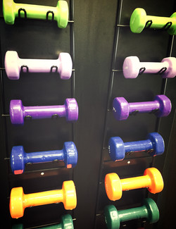 Bright, colorful weights