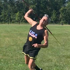 Still throwing a javelin and high jumping at 81!