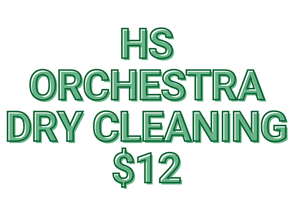 HS Orchestra Dry Cleaning Fee