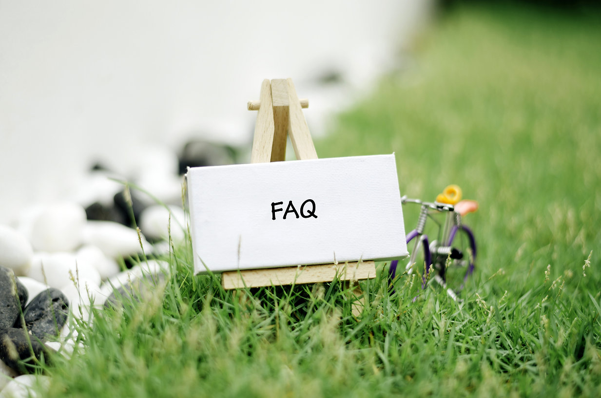 conceptual image, word FAQ on white canv