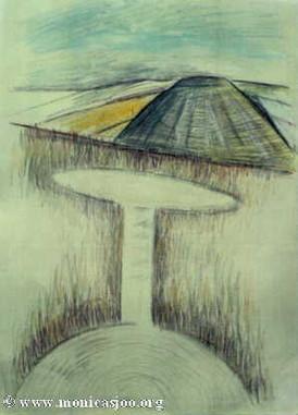 043 - Cropcircle At Silbury 1991