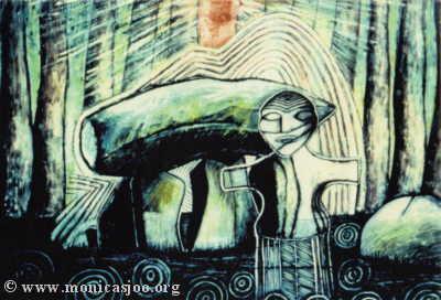 040 - Cromlech Crone Goddess1990