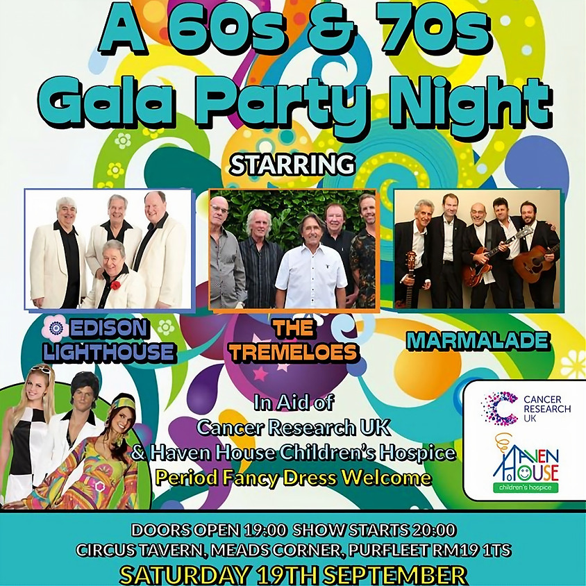 60's & 70's Gala Party Night