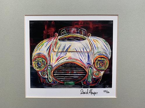 1969 AC Cobra.Signed and framed print