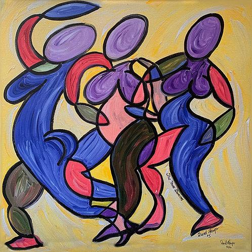 The Three Dancers. Ltd Edition Canvas Print