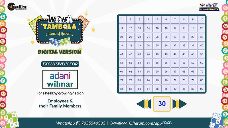 WooHoo Tambola Number Board - housie