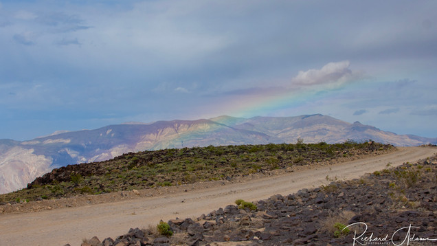 Rainbow through Rainbow Canyon (Star Wars Canyon)