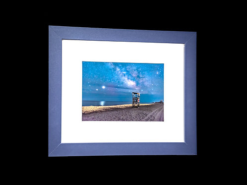 Milky way from the Cape 5x7 framed print