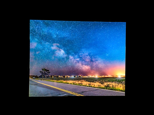 Coastal Maine Milky Way Glass print, 11x14