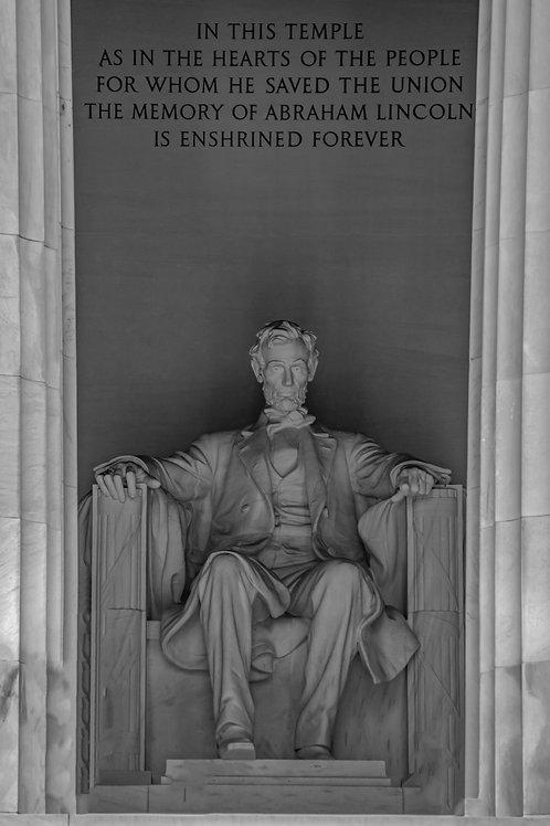 Lincoln Memorial Pillars B&W