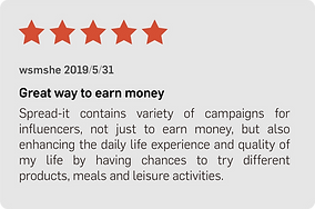 positive reviews join the campaign mobile app HK influencer KOL marketing agency